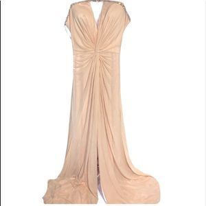Faviana Formal Gown Sleeveless Peach Size 6 New